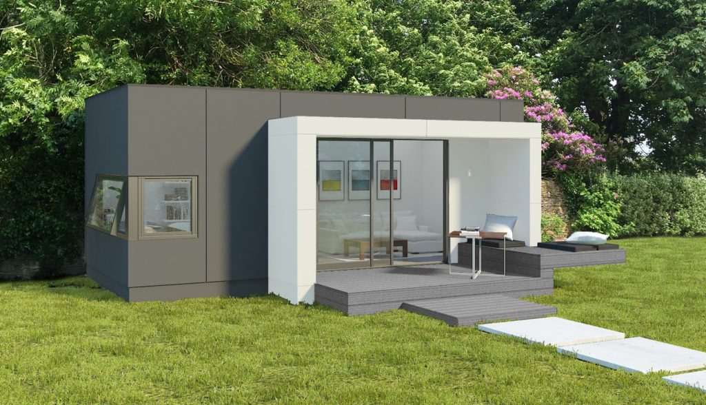 HUS - Large Grey and White Garden Room